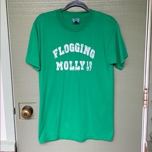 VINTAGE- FLOGGING MOLLY band tee